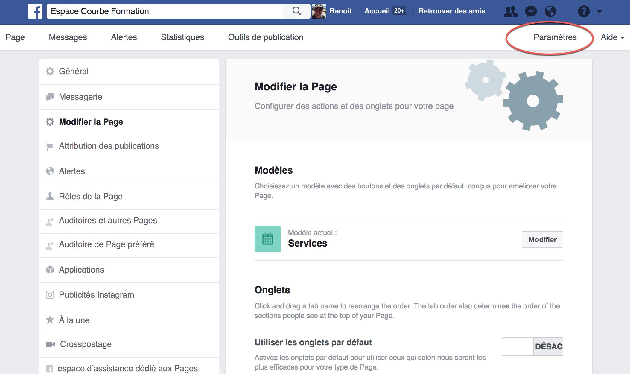 Changement De Presentation Des Pages Facebook Blogue Espace Courbe