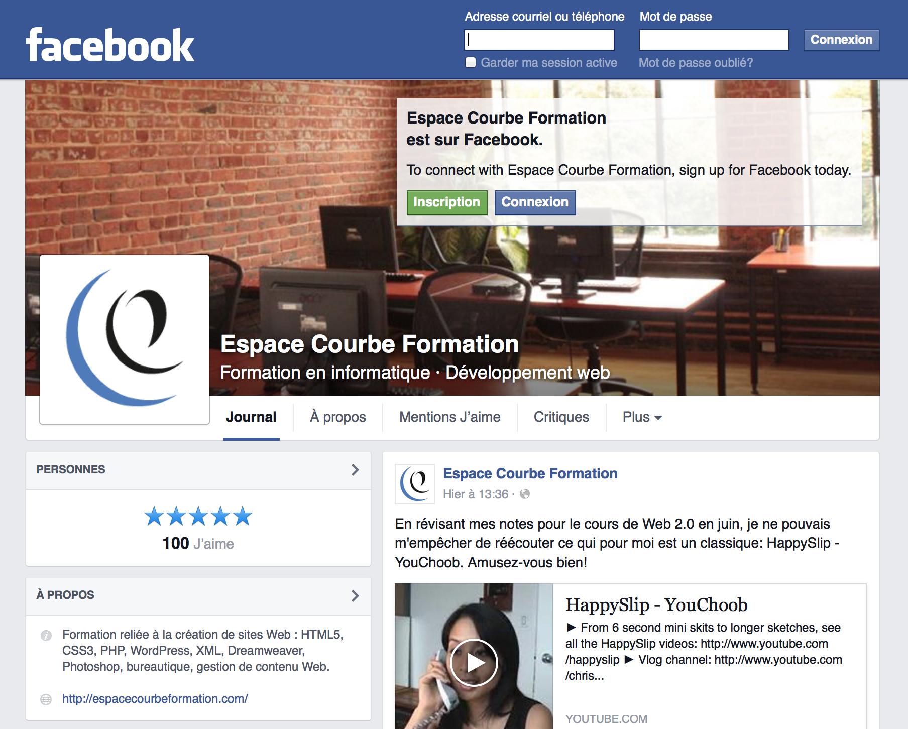 changement de pr u00e9sentation des pages facebook  u2013 blogue espace courbe formation